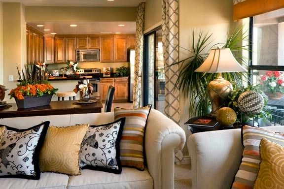 Bella Monte at Desert Ridge   Southwestern Kitchen Also Cactus Condo Condominium Eclectic Great Room Hardwood Cabinets Mesa Open Open Floor Plan Open Layout Southwestern Eclectic Southwestern Style Stucco Town Home Townhome Townhouse