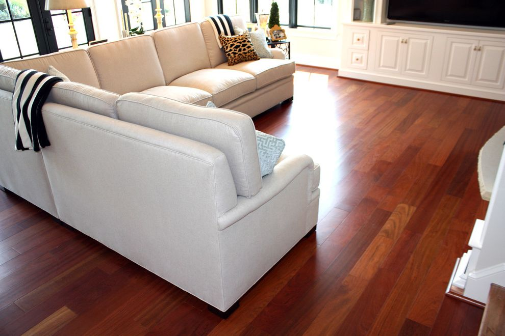 Bellawood Brazilian Cherry with Contemporary Living Room  and Brazilian Cherry Brazilian Cherry Hardwoods Cherry Cherry Hardwoods Hardwood Flooring Hardwood Floors Prefinished Floors