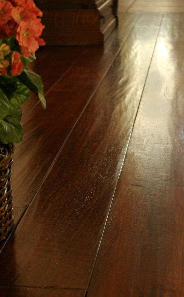 Bellawood Brazilian Cherry with Traditional Hall  and Brazilian Cherry Handscraped