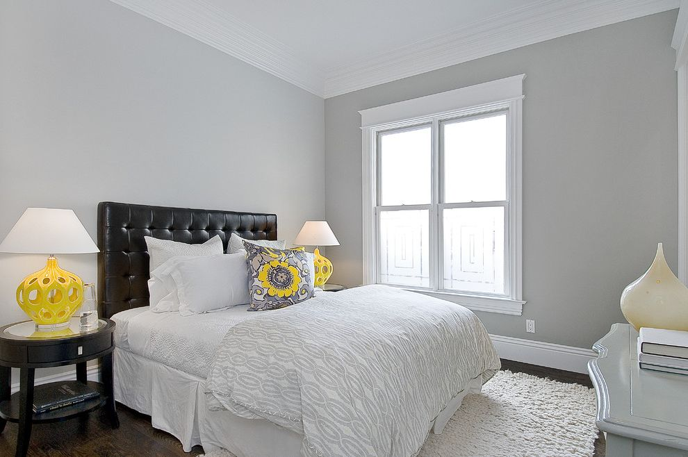 Benjamin Moore Gray Owl Oc 52   Traditional Bedroom Also Traditional