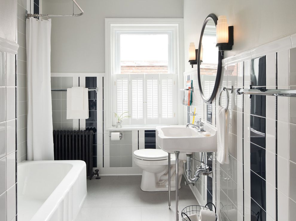 Northern Liberties, Philadelphia: Eclectic Striped Guest Bath $style In $location