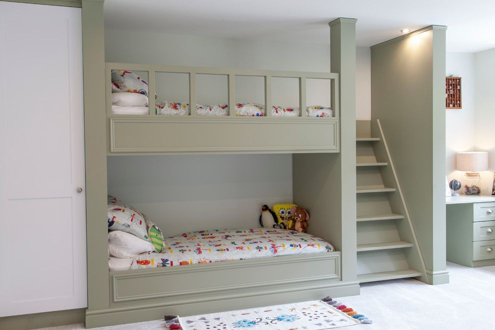 Best Mattress for Bunk Beds   Transitional Kids Also Boys Bedroom Bunk Beds Childrens Decor Childrens Beds Colorful Bedding Desk Gray Green Bunk Bed Kids Bedroom Kids Built in Bunk Beds Kids Toy Storage Bin Shared Bedroom Wardrobe