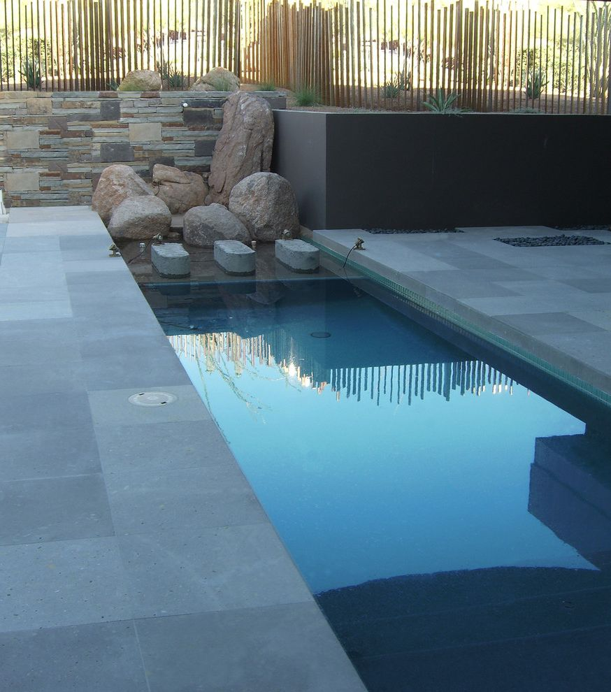Best Pools in Las Vegas   Modern Pool Also Long Skinny Narrow Pool Pool Retaining Walls Small