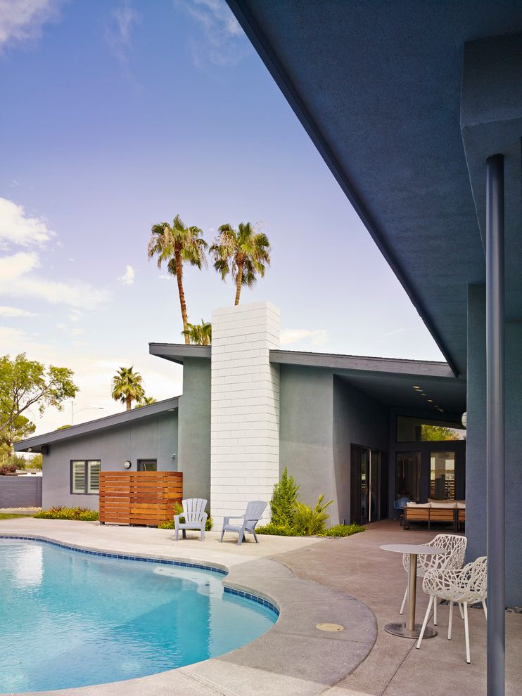 Best Pools in Las Vegas with Midcentury Pool Also Adirondack Chairs Desert Landscape Down Town Las Vegas Midcentury Modern House Palm Trees Shed Roof Urban
