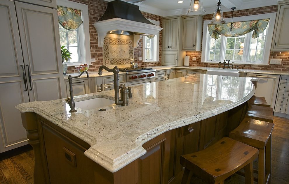 Bianco Romano Granite Countertops   Traditional Kitchen Also Bianco Romano Granite Island Countertops Kitchen Countertops