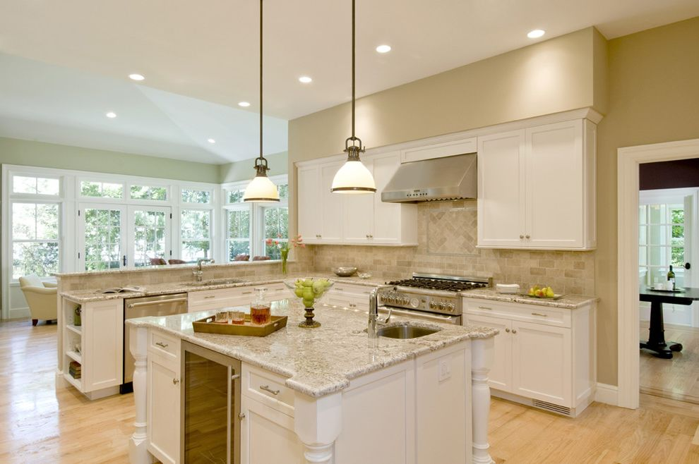 Bianco Romano Granite Countertops with Eclectic Kitchen Also Cabinets Granite Island Kitchen Spacious