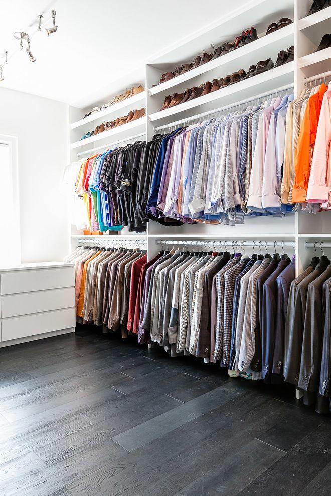 Big Closet Top Shelf with Contemporary Closet  and Color Coordinated Closet Shoe Storage Track Lighting