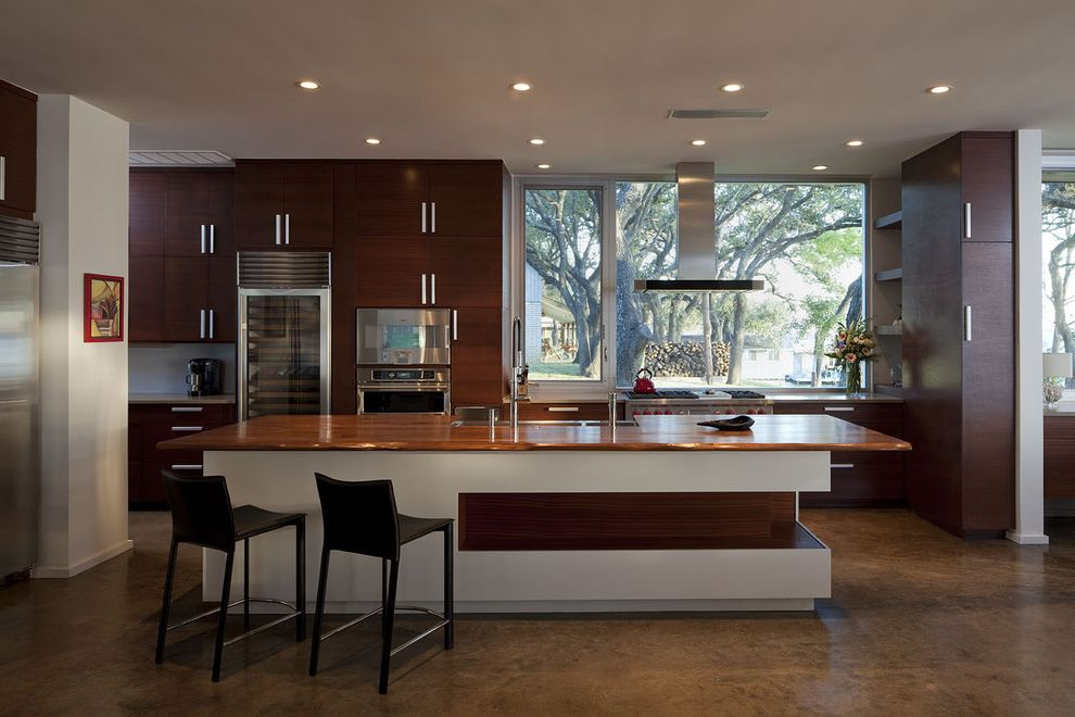 Big Cork Winery   Contemporary Kitchen Also Breakfast Bar Ceiling Lighting Eat in Kitchen Kitchen Hardware Kitchen Island Neutral Colors Range Hood Recessed Lighting Stainless Steel Appliances Wine Refrigerator