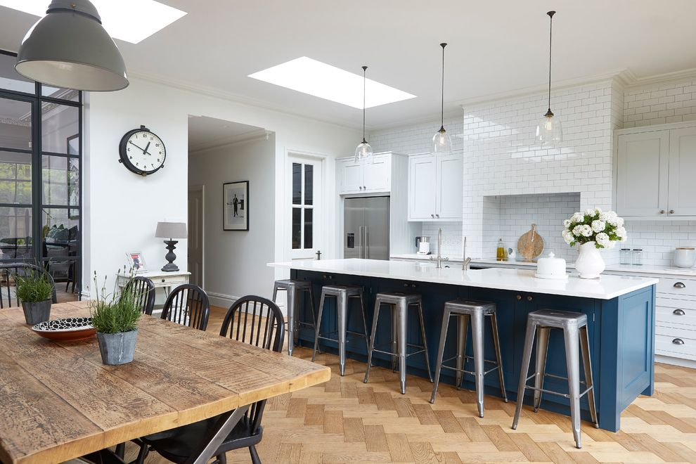 Blakely Flooring with Industrial Kitchen Also Blue Island Crittall ...