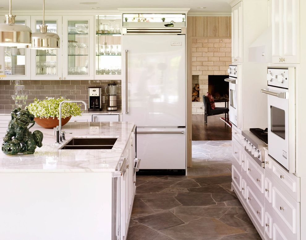 Bob Wallace Appliance with Traditional Kitchen  and Island Lighting Kitchen Island Pendant Lighting Stone Floors