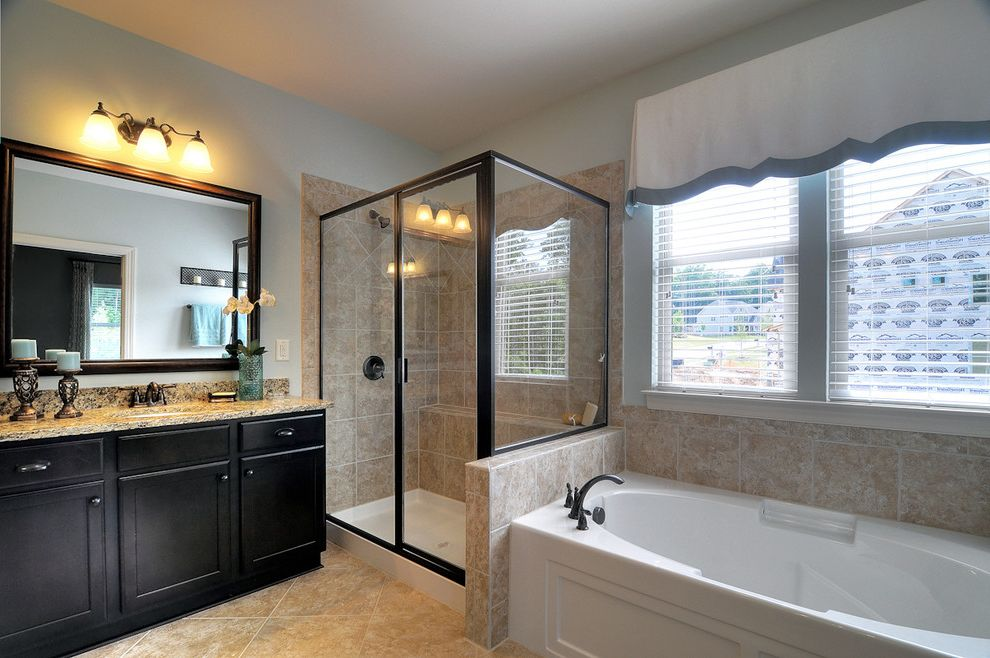 Bonterra Charlotte with Contemporary Bathroom  and Bathroom Bonterra Builders Charlotte Master Bathroom
