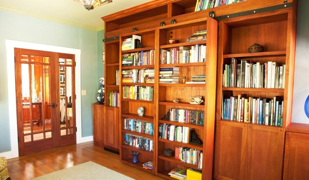 Bookshelf Murphy Bed   Traditional Home Office  and Traditional