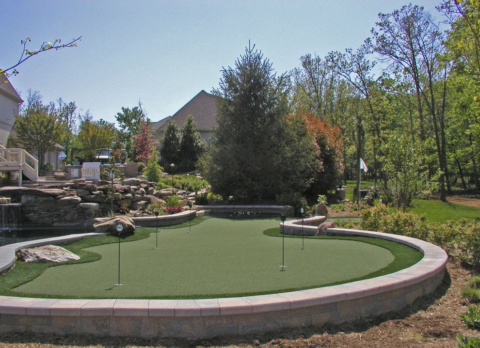 Boot Ranch Golf   Contemporary Landscape Also Artificial Turf Boulders Putting Green Recreation Rocks