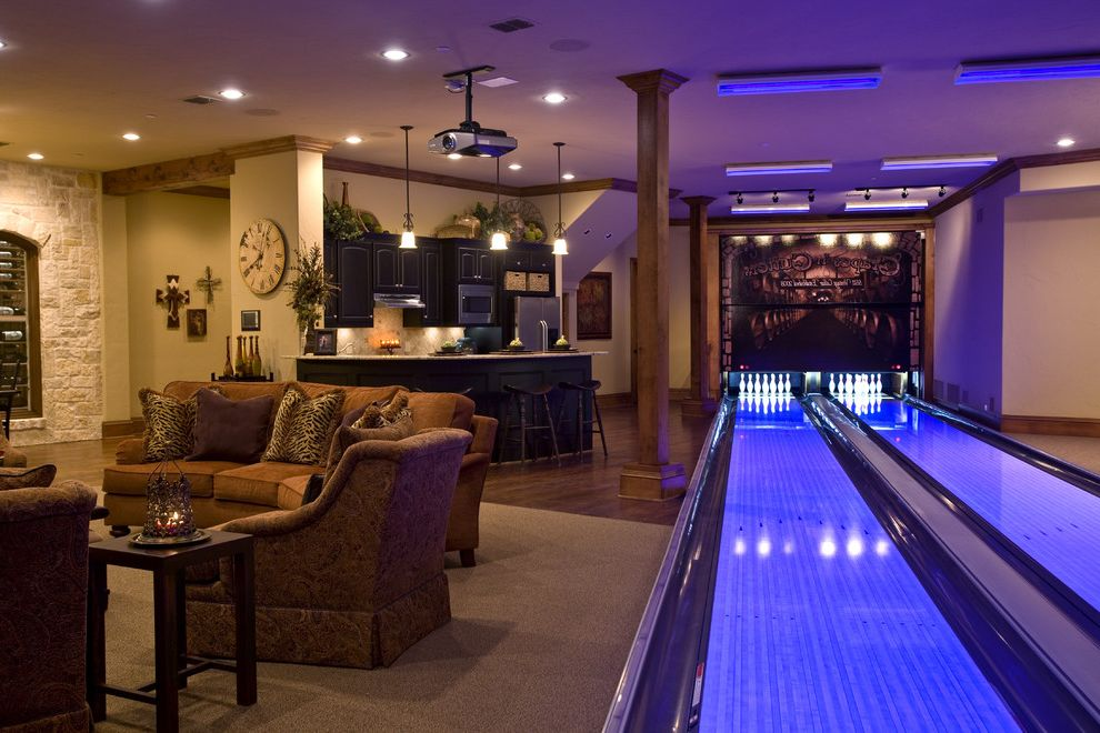 Bowling Alley Nyc   Traditional Basement  and Traditional