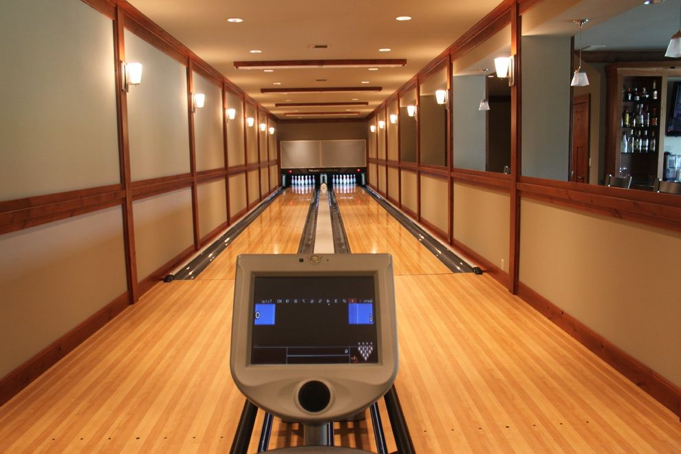 Bowling Alley Nyc with Modern Home Gym Also Amf Basement Bowling Concept Qubica Schaafsma Woodwork