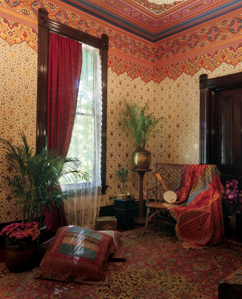 Bradbury and Bradbury Wallpaper   Asian Living Room Also Bradburywallpaper Asian Bradbury Persian Victorian Wallpaper