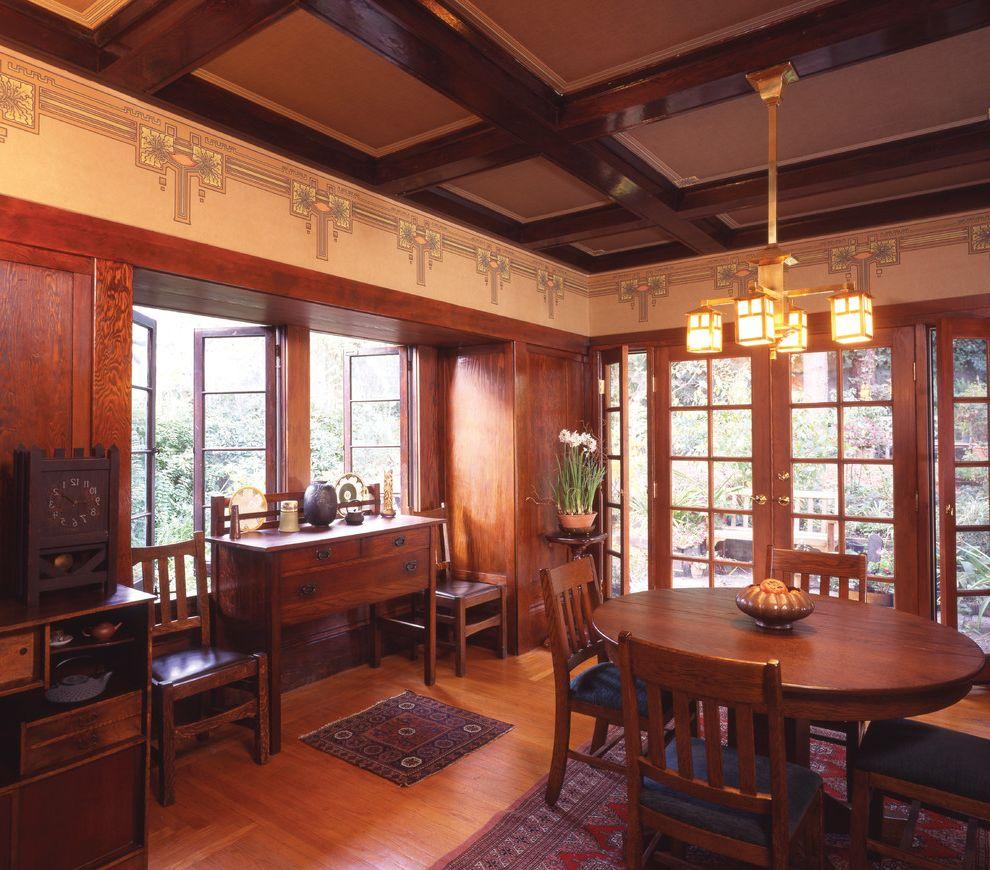Bradbury and Bradbury Wallpaper    Dining Room Also Bradburywallpaper Arts Crafts Craftsman Gilded Handprinted William Morris