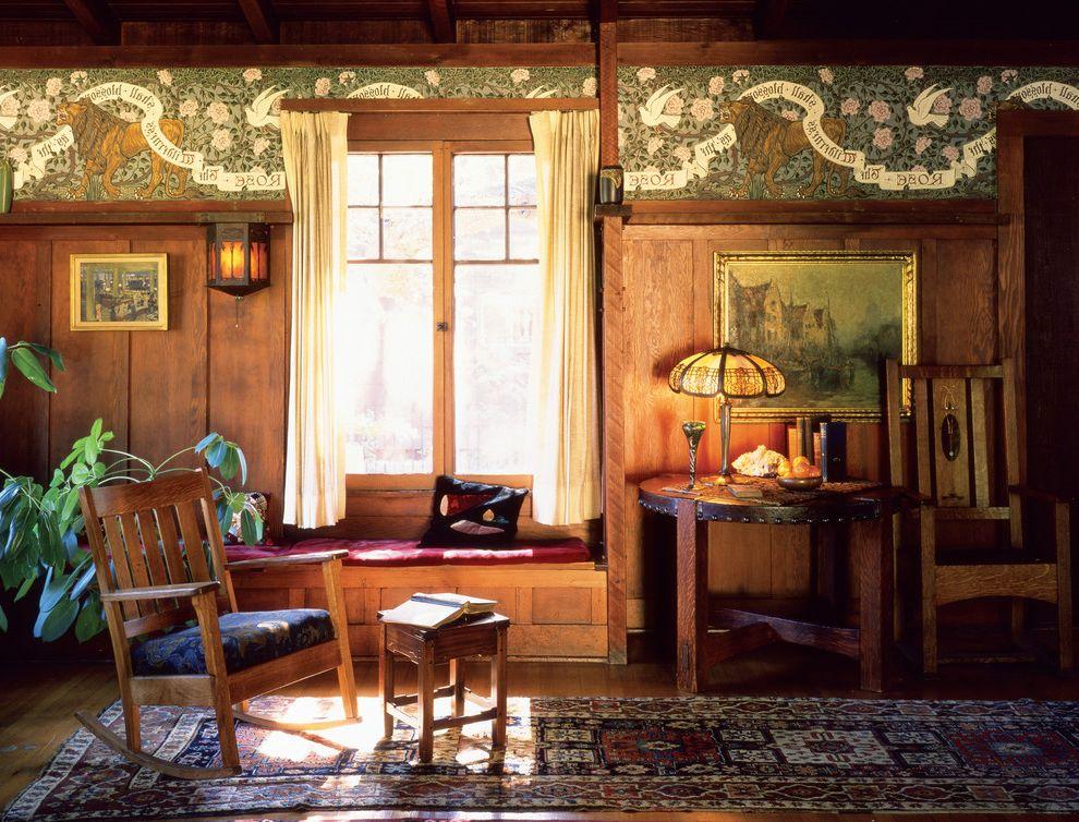 Bradbury and Bradbury Wallpaper    Living Room Also Bradburywallpaper Arts Crafts Craftsman Gilded Handprinted Walter Crance