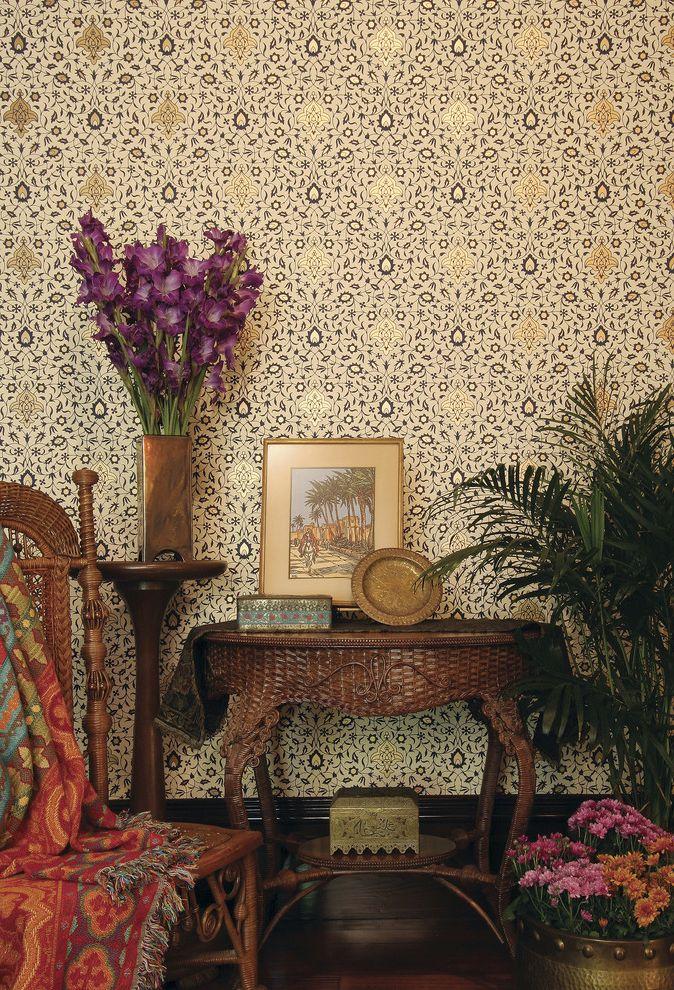 Bradbury and Bradbury Wallpaper   Traditional Living Room  and Bradburywallpaper Bradbury Wallpaper Gilded Handprinted Persian Victorian