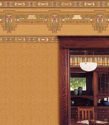 Bradbury and Bradbury Wallpaper with Craftsman Living Room  and Bradburywallpaper Arts Crafts Bradbury Bungalow Craftsman Handprinted Wallpaper William Morris