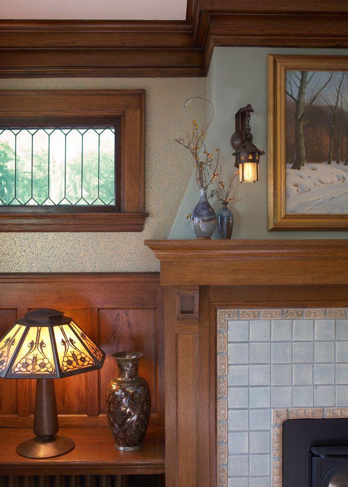 Bradbury and Bradbury Wallpaper with Traditional Family Room  and Traditional