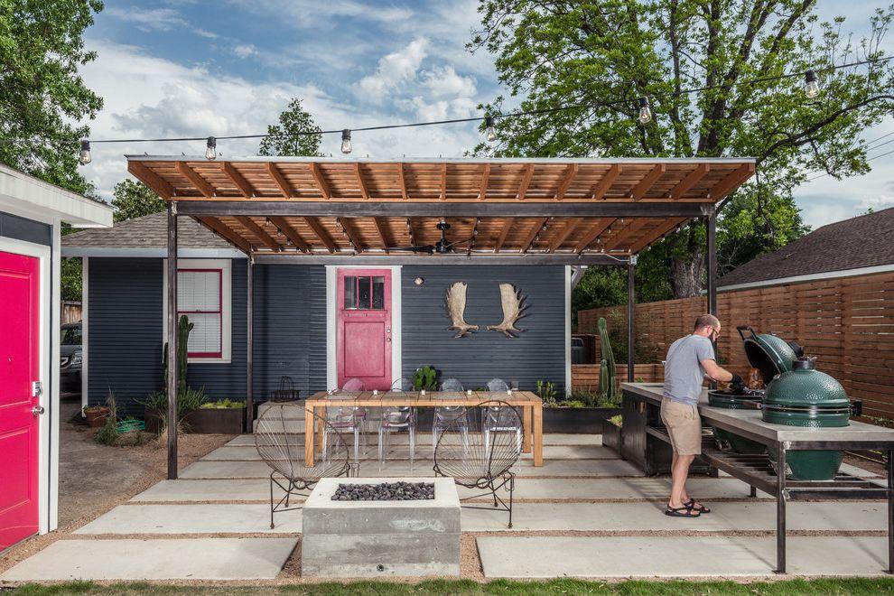 Bretts Bbq   Contemporary Patio Also Concrete Counter Top Concrete Patio Fire Pit Grill Counter Landscape Outdoor Grill Patio
