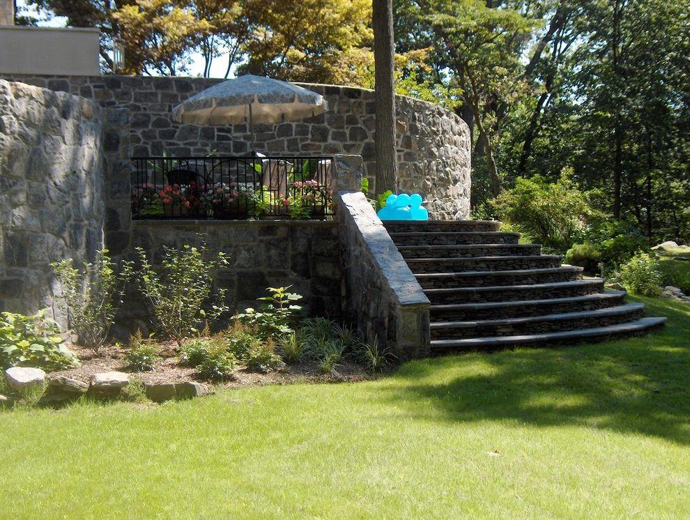 Briarcliff Spa   Eclectic Landscape Also Landscape Patio Spa Steps Walls