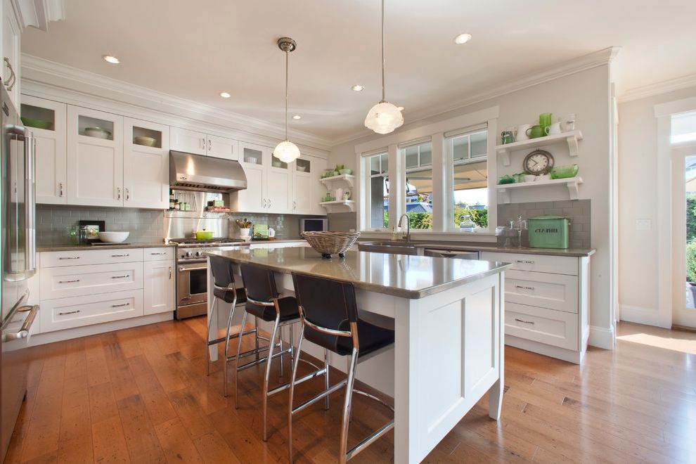 Broadstone Hyde Park with Traditional Kitchen  and Built Ins Cambria Quartz Countertops Custom Custom Cabinets Kitchen Kitchen Island Subway Tile Backsplash White on White