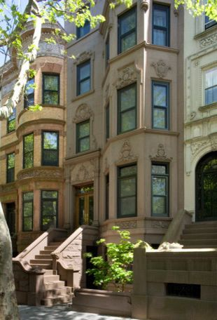 Brownstone Properties with Traditional Exterior Also Front View New York Brownstone Staircase Window