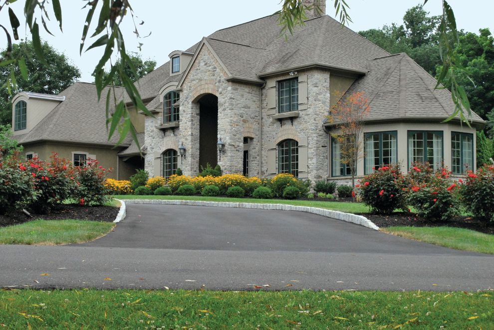 Bucks Country Gardens   Contemporary Landscape  and Curbside Appeal Landscape Outdoor Entryway
