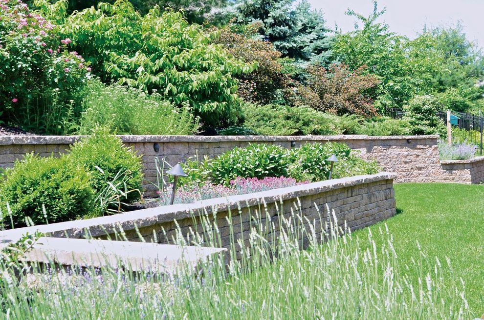Bucks Country Gardens   Contemporary Spaces Also Gardens Landscape Outdoor Living Outdoor Playsets Patio Perennial Gardens Retainer Walls Shrubs Slope