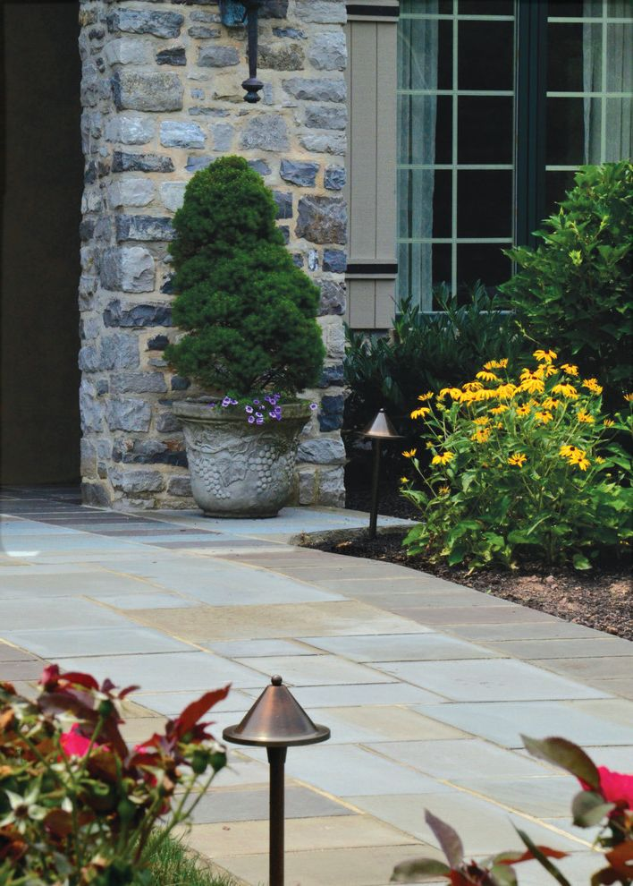 Bucks Country Gardens   Contemporary Spaces  and Curbside Appeal Landscape Outdoor Entryway