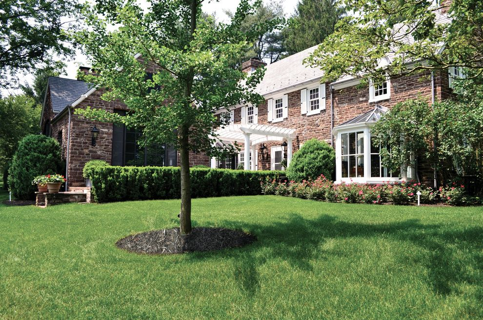 Bucks Country Gardens Traditional Landscape Also Brick Walkway Country  Farmhouse Covered Walkway Garden Landscape Design Stone