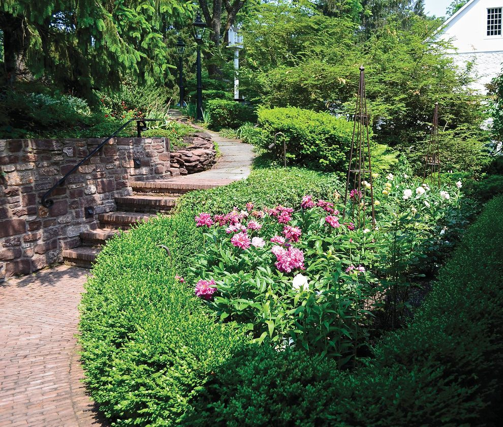 Covered Walkway Designs For Homes: Bucks Country Gardens Traditional Landscape And Brick