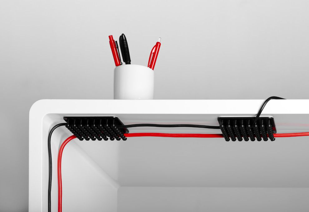 Cable Management Under Desk with Modern Spaces  and Cable Management Cable Organizer Cablox