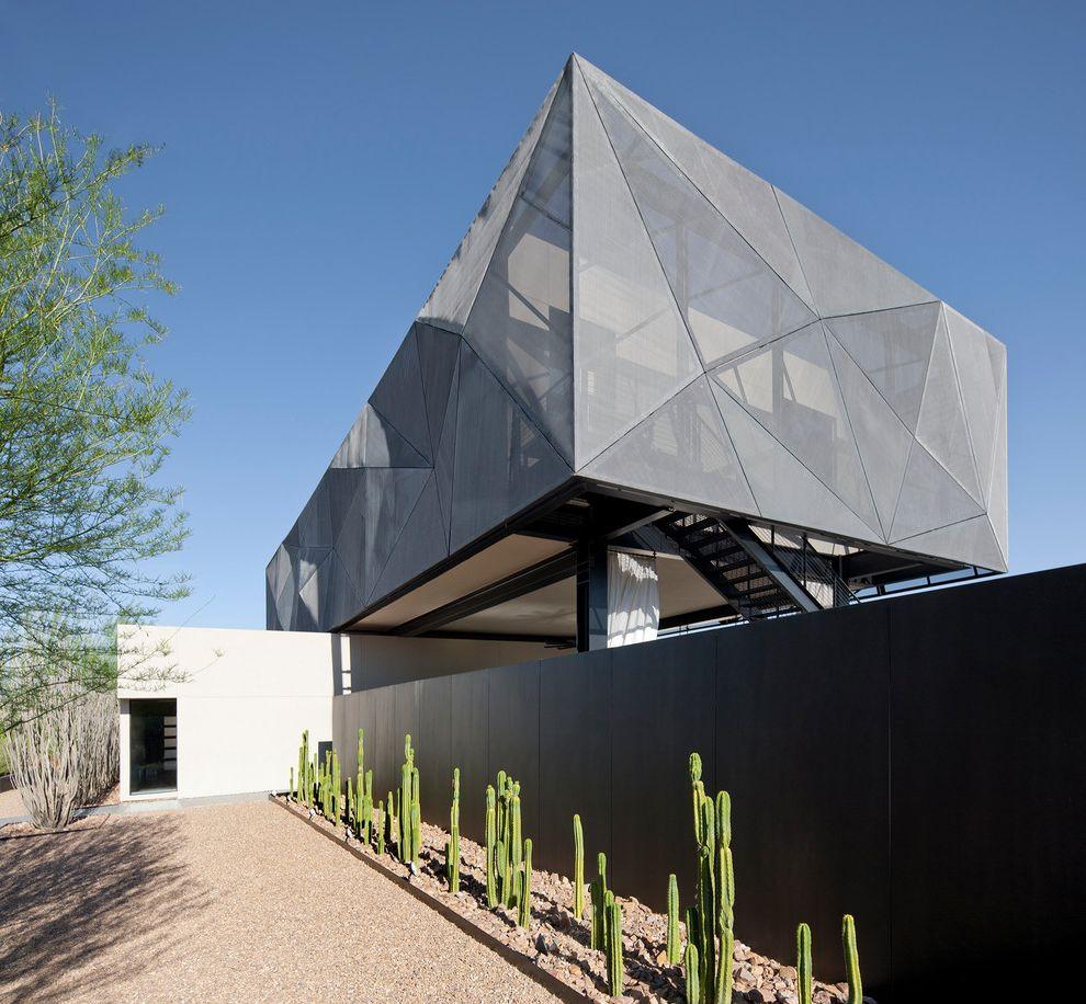 Cactus Forty 2   Contemporary Exterior Also Cactus Desert Desert Landscape Fence Metal Siding Unique Shape