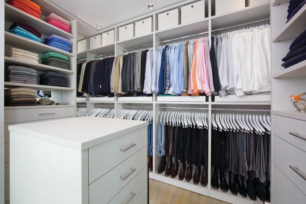 California Closets Seattle   Contemporary Closet  and Built in Storage Ceiling Lighting Hanging Clothes Racks Island Recessed Lighting Storage Boxes Walk in Closet