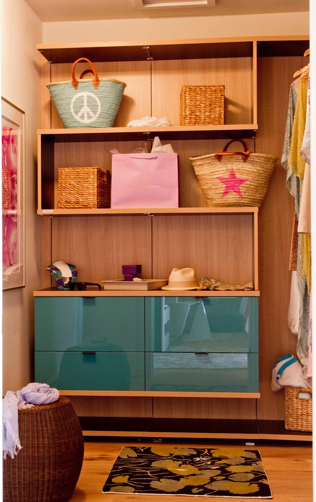 California Closets Seattle With Contemporary Closet Also Beach Bags Edge  Pulls Glossy Finish Open Shelves Storage Baskets Teal Cabinets