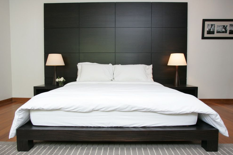 California King Bed Frame and Headboard Contemporary Bedroom Also ...