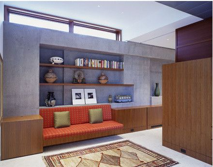 Callas Contractors    Spaces  and Area Rug Corridor Foyer Niche Picture Recessed Lighting Shelves Sofa Tile Floor