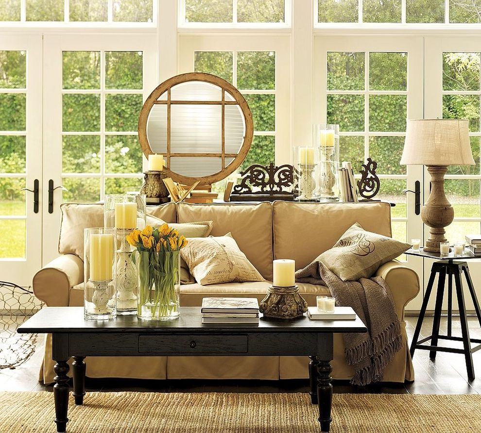 Candle Sconces Pottery Barn with Traditional Living Room  and Traditional