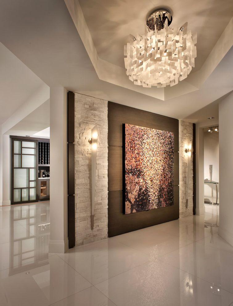 Wall Sconces For High Ceilings : Canvas Factory Reviews for Contemporary Entry Also Contemporary Design Custom Ledger Stone ...