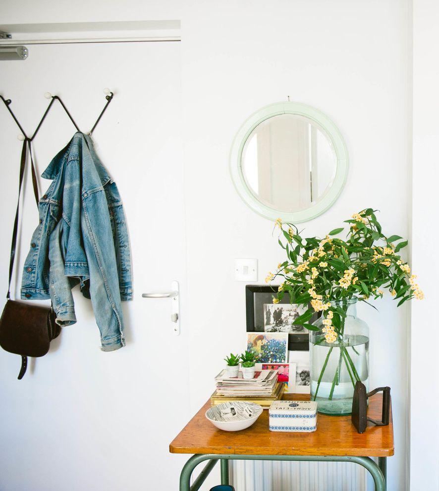 Car Donations Denver   Scandinavian Hall  and Circular Mirror Hallway Hallway Table Plant Vintage Furniture Wall Coat Hooks Zig Zag Coat Rack