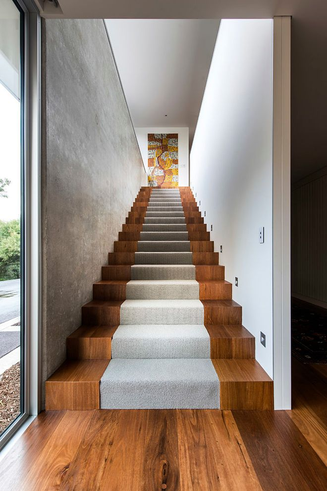 Carpet Cleaning Stillwater Ok   Contemporary Staircase Also Architecture Australia Beach House Bright Concrete Wall Design Fresh Modern Rustic Stair Lights Stair Runner Stairs Timber Stairs Zorzi South