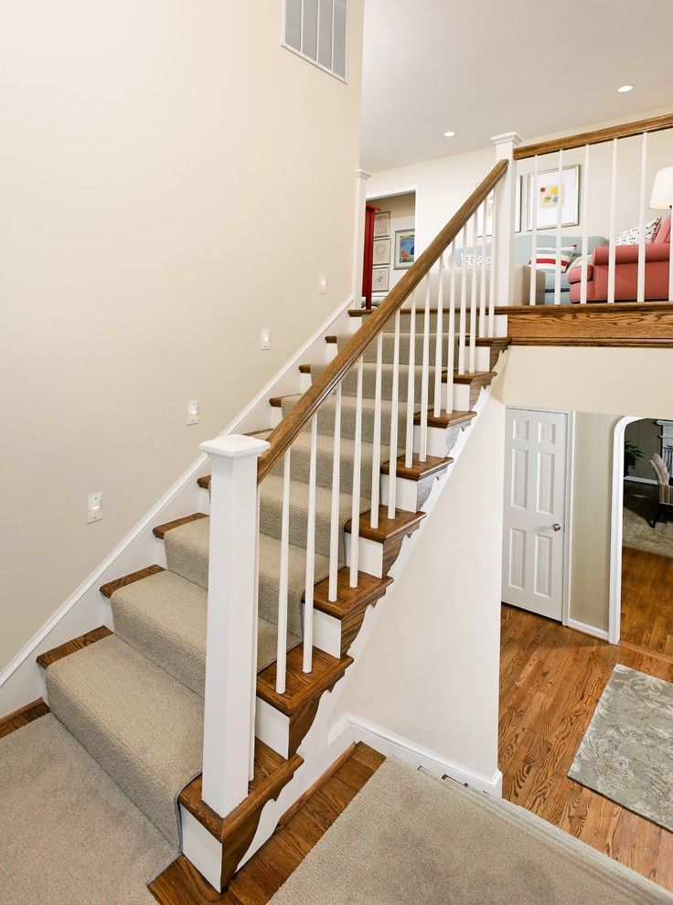 Carpet Cleaning Sunnyvale Ca   Traditional Staircase  and Banister Carpet Runner Handrail Stair Carpet Stair Lighting White Wood Wood Railing Wood Staircase Wood Trim