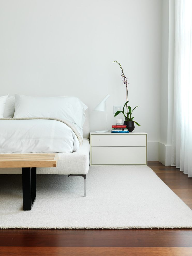 Carpet Cleaning Sunnyvale Ca with Contemporary Bedroom  and Bedroom Bench Louis Poulson Ny Loft Platform Bed Purple Wishbone Chair Sheer White Curtain Strong Yellow Tribeca White Rug Wishbone Chairs