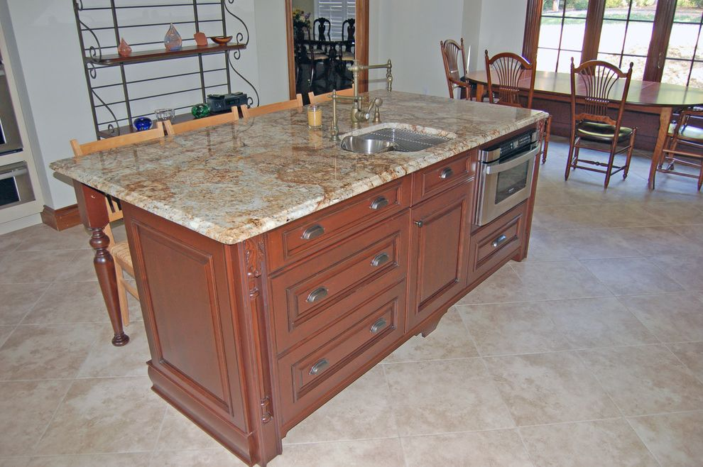 Carpets of Dalton with Traditional Kitchen  and Brookhaven Cabinetry Carpets of Dalton Furniture of Dalton Home Remodel Kitchen Ideas Sub Zero Tile Floors Wood Mode