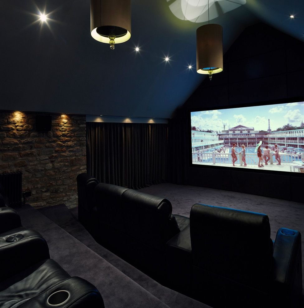 Castle Rock Theater   Contemporary Home Theater  and Bespoke Cinema Bespoke Home Cinema Cinema Chairs Cinema Room Cinema Screen Home Cinema Home Cinema Interior Interior Designed Cinema Luxurious Cinema Vaulted Ceiling