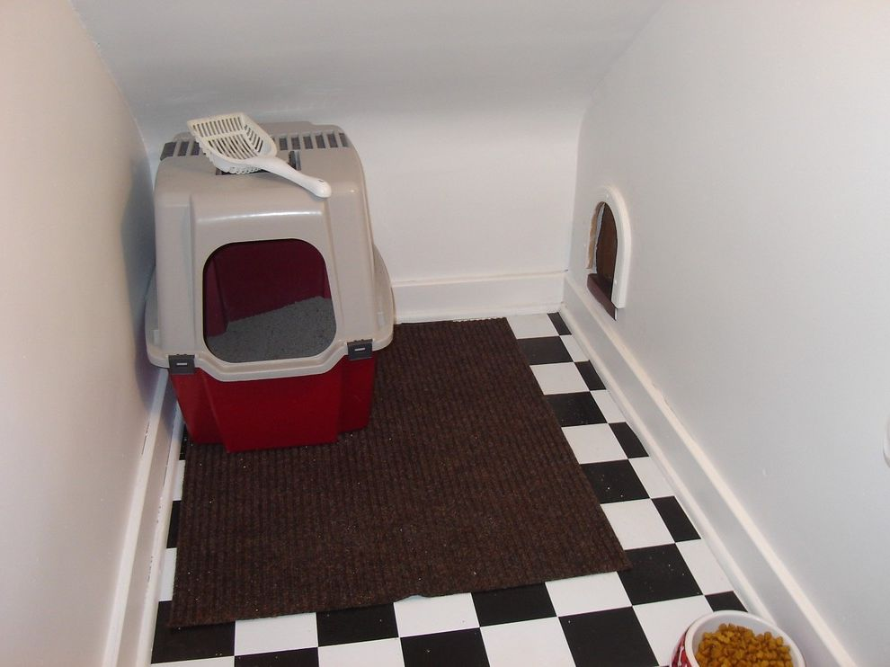 Cat Tree with Litter Box with Traditional Staircase  and Traditional