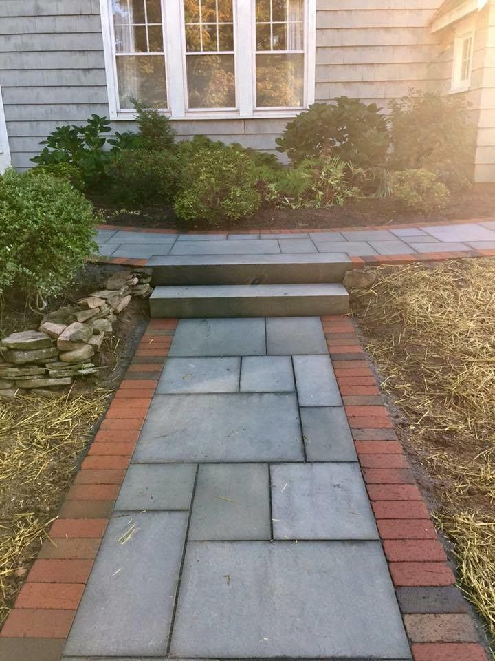 Cedar Creek Landscaping with Traditional Landscape Also Brick Framed Path Brick Path Traditional Landscape Traditional Landscape Design Traditional Landscape Ideas Traditional Path Traditional Path Design Traditional Path Ideas